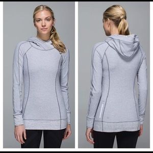 Lululemon Think Fast Hoodie Mini Check pique strip